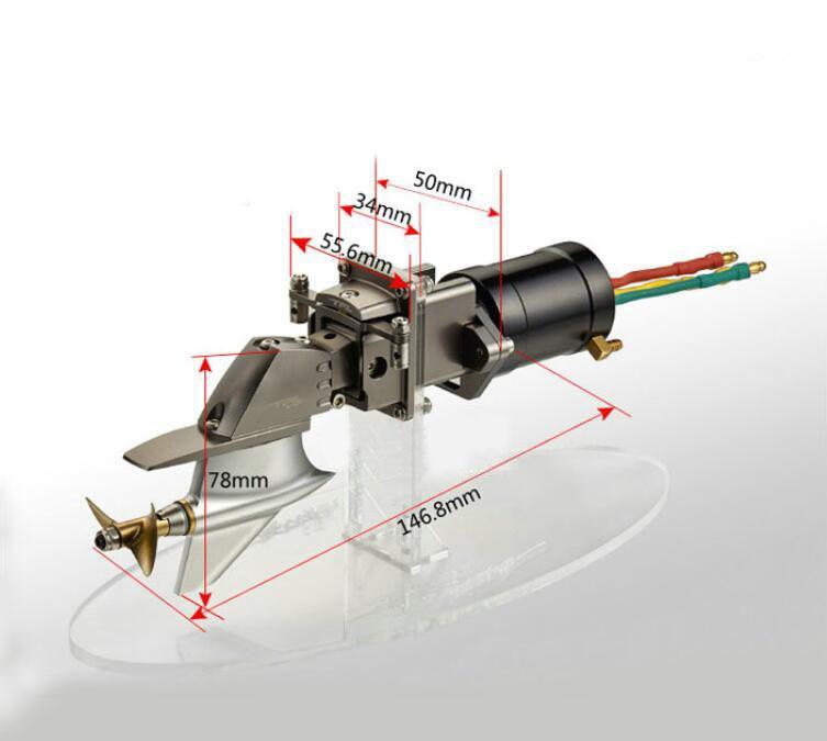 1 Set P1 Tailing Boat Model 2960 SSS Brushless Motor+Servo+ESC+4mm Boat Shaft Propeller Set