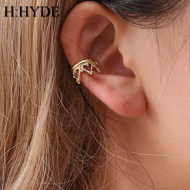 New 16 Style Gold Silver Brincos Girls Ear Clip Star Heart Flower Crown Ear Cuff Clip Earrings For Women Wedding Jewelry #273727 Jewelry & Accessories