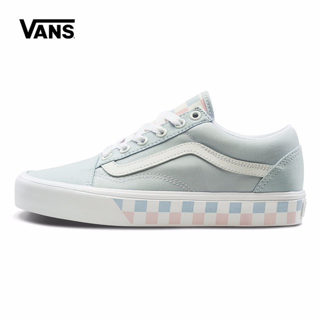 74a45db16d6bec Blue Grid Vans Sneakers Women s Classic Old Skool Lite Low-top  Skateboarding Shoes Sport Outdoor Sneakers Canvas VN0A2Z5WT1I