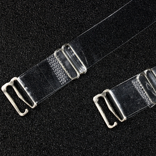 3Pairs=6Pc Metal Buckle Bra Straps Belt Women's Elastic Transparent Silicone Bra Straps Adjustable Baldric Intimates Accessories 4