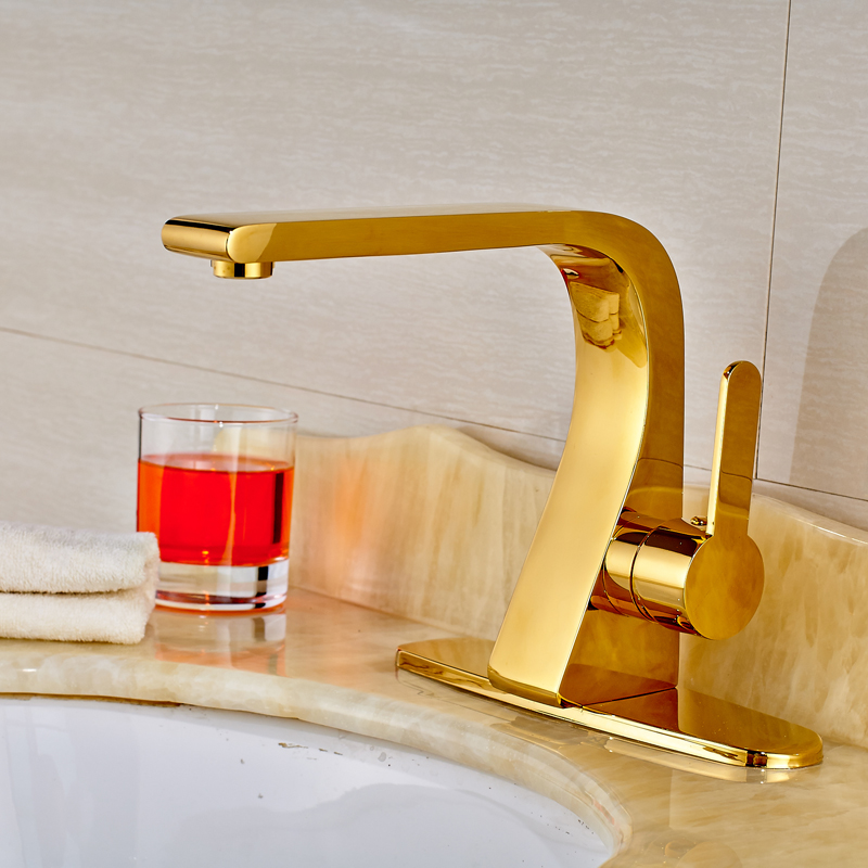 High grade bathroom wash basin sink mixer faucet with hole cover plate ...