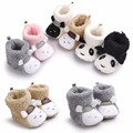 Romirus Brand Winter Cute Panda Animal Baby Boots Fleece Warm Cotton-padded Shoes Baby Booties Wholesale Infant Toddler Shoes