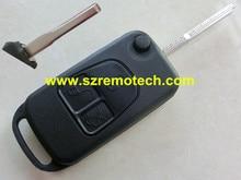 Free Shipping Flip Folding 3 Button Remote Key Shell Fob Fit For Mercedes Benz ML C S Class ML320 C230 ML430 Car Key Blank