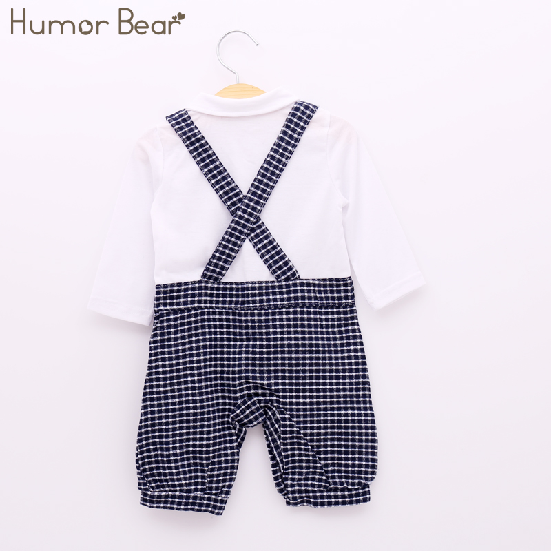 b19d78a66 Humor Bear Baby Boy Clothing Set Autumn Style Gentleman Long Sleeve White  Shirt Grid Suspenders Hat + Clothing Suits -in Clothing Sets from Mother &  Kids on ...