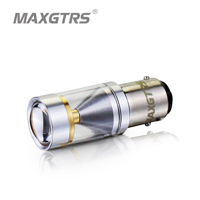 2x S25 1157 BAY15D 30 w CREE Puce LED P21/5 w 360 Degrés Brillance Conduite Lampe Ampoule frein De voiture de Secours D'approvisionnement Allument le Blanc/Rouge/Jaune
