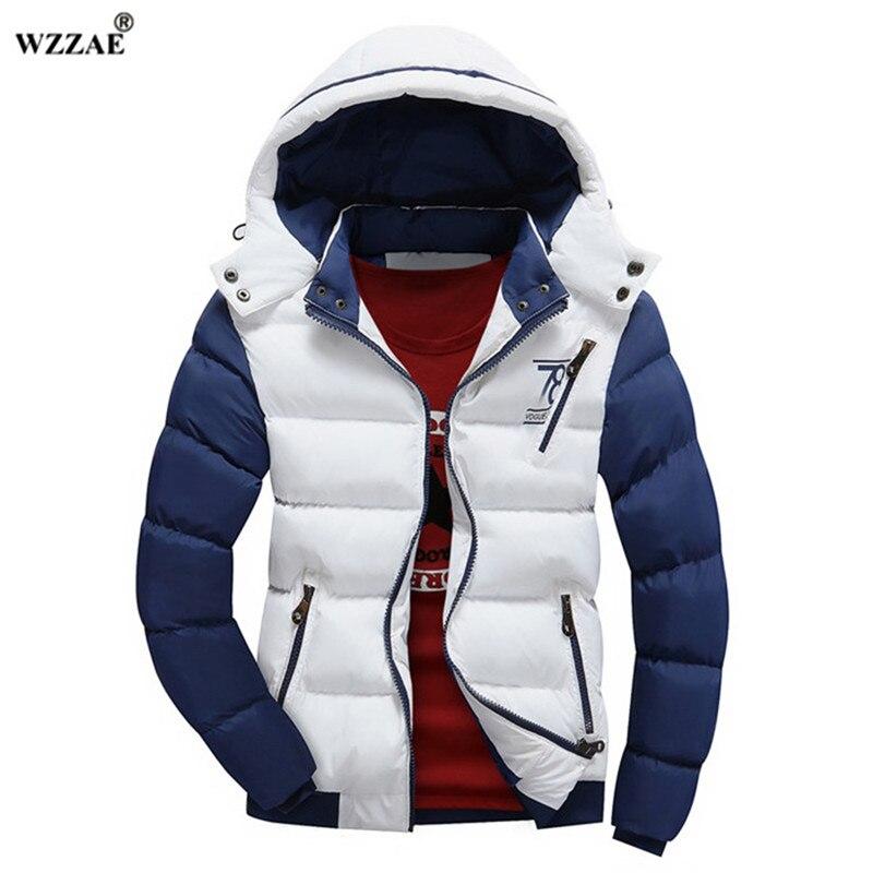 WZZAE 2018 Brand New Winter Jacket Men Warm Down Jacket Casual   Parka   Men padded Winter Jacket Casual Handsome Winter Coat Men