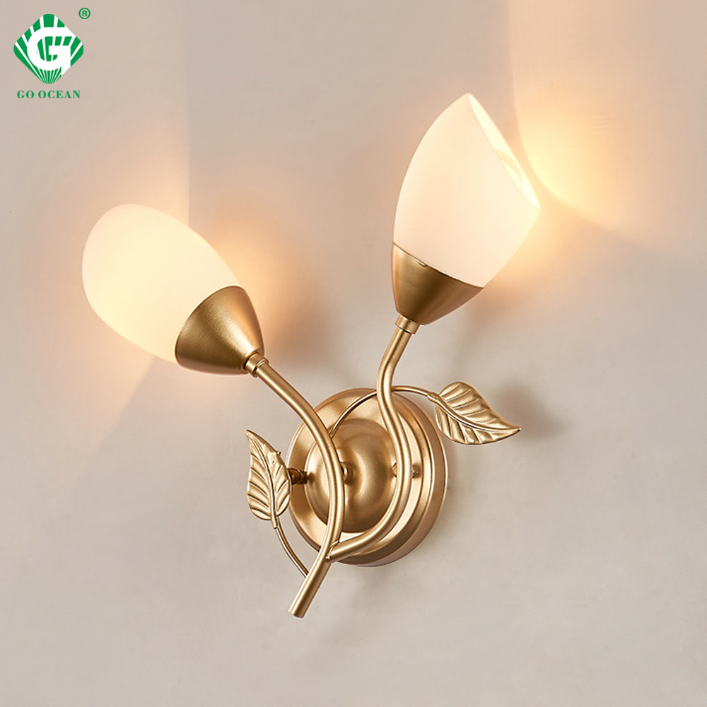 Us 28 34 22 offart deco wall sconces bedside lamp e27 bulb white black gold wall lamps corridor modern bedroom hotel 220v 110v indoor lighting in