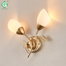 Art Deco Wall Sconces Bedside Lamp E27 Bulb White Black Gold Wall Lamps Corridor Modern Bedroom Hotel 220V 110V Indoor Lighting(China)