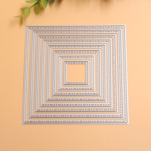 KLJUYP Square Frames Metal Cutting Dies Stencils for DIY ...