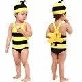 2-6Y Niños Niñas Traje de Baño Bikini Traje de División Bikini Traje de Baño y Gorro de baño 3 Unidades Tankini Beachwear Envío de La Gota