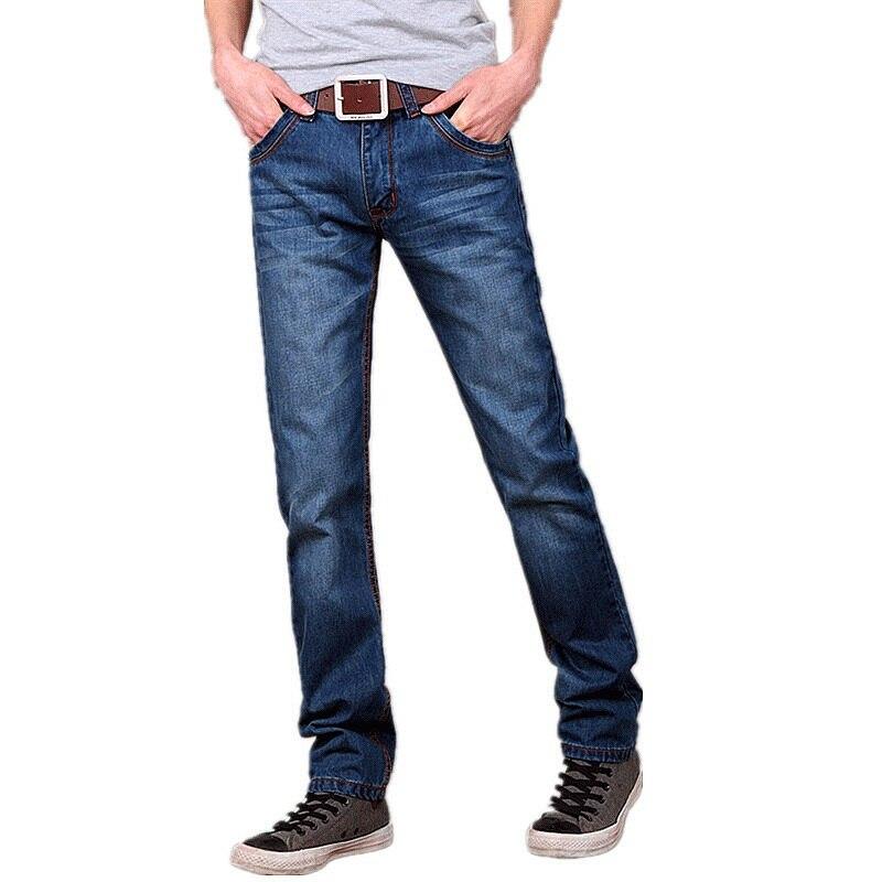 Spring Autumn Jeans Men 2017 Middle Waist Men Jeans Straight Denim Pants Men Denim Trousers Large Size 28-38 Size HZ1427 fashion solid mens spring autumn casual cotton jeans men classic denim pants middle waist straight trousers loose jeans homme