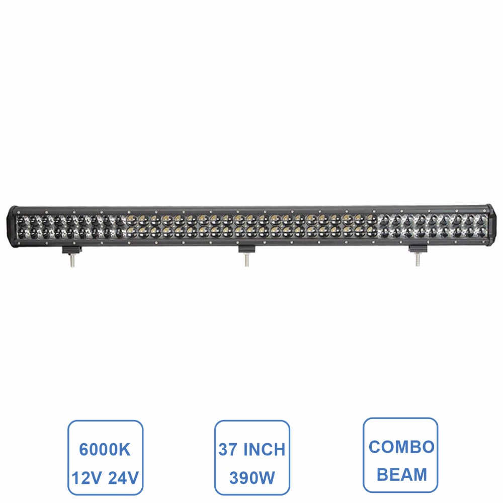 390W Offroad LED Light Bar 37'' Combo Driving Lamp 12V 24V SUV ATV Wagon 4X4 UTE Pickup Truck Trailer Boat Car Camper Headlight 50 offroad 324w led light bar bumper roof styling refit headlight 12v 24v car truck suv 4x4 trailer wagon camper pickup lamp