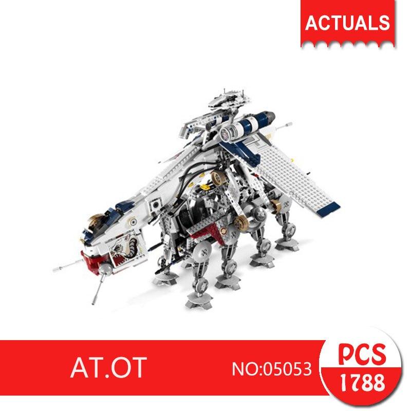 Lepin 05053 1788Pcs Republic of the airlift warships Model Building Blocks Set Bricks Toys For Children Gift 10195