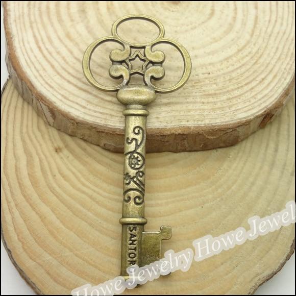 30  pcs Charms Key Pendant  Antique bronze  Zinc Alloy Fit Bracelet Necklace DIY Metal Jewelry Findings