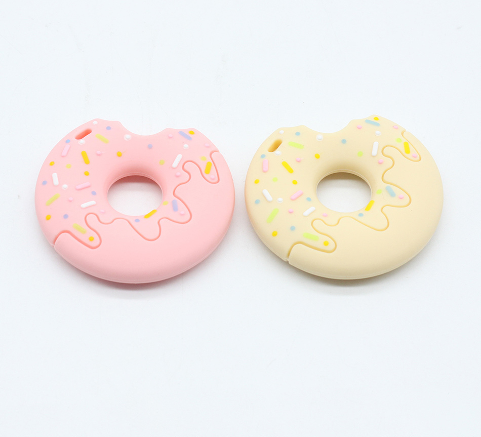 Make Diy Baby Teething 2pcs Silicone Bpa Free Beads Donut Teether Houten Bijtring Pacifier Clip Hot Sale Chewable