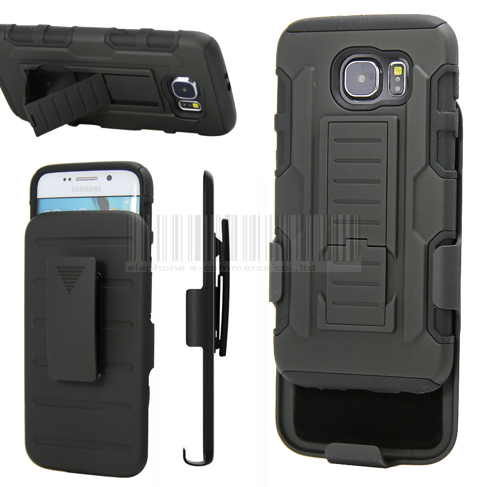 For Samsung Galaxy S3/S4/S5 Min/S6/S7/Edge/Edge Plus/Active/Note 2 3 4 5 7 Hybrid Rugged Impact Holster Case+Belt Clip Cover
