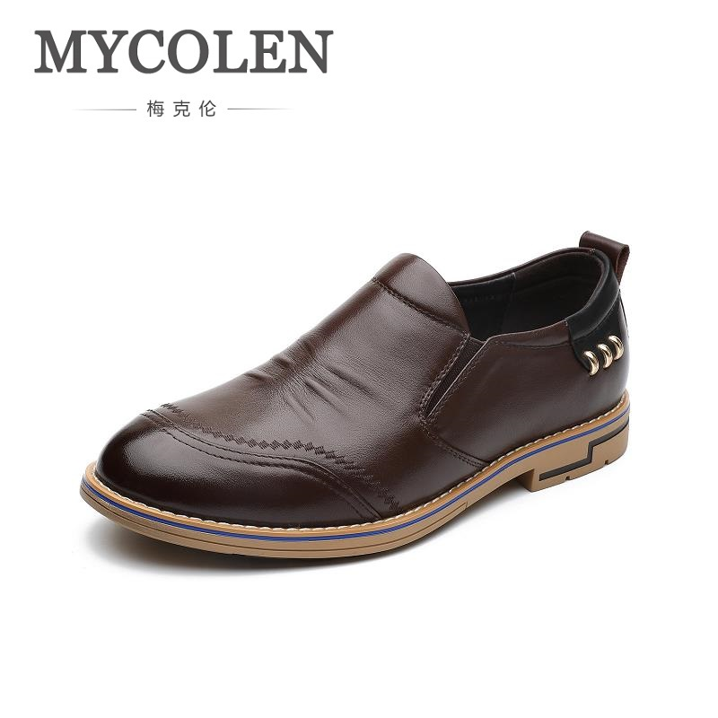 MYCOLEN Spring Men Genuine Leather Shoes Breathable Men Shoes Loafers Comfortable Ultralight Lazy Shoes Zapatos De Hombre klywoo new white fasion shoes men casual shoes spring men driving shoes leather breathable comfortable lace up zapatos hombre