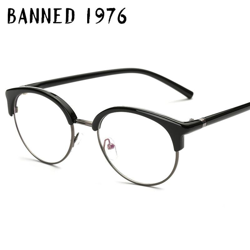 BANNED 1976 Anti Blue Light Frame Retro Designer Blue Blocking Glasses Rectangle Gaming Glasses Frame Optical Glasse