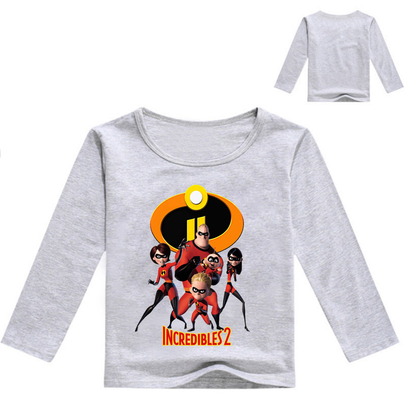 The Incredibles <font><b>2</b></font> Boys Boys Long Sleeve Tops Cartoon Fall T-<font><b>shirts</b></font> for kids sweatshirt Baby T <font><b>shirt</b></font> autumn boy clothes image