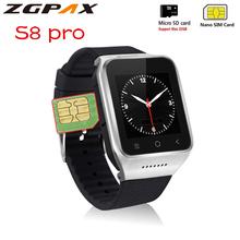 Oryginalny S8 pro smart watch android 5 1 MTK6580 1 GB + 16 GB wsparcie karty SIM TF 3G WIFI GPS holenderski hebrajski arabski SmartWatch tanie tanio Kalendarz Interaktywne Muzyki Budzik Tracker fitness Naciśnij wiadomość Odpowiedź połączeń Wiadomość przypomnienie