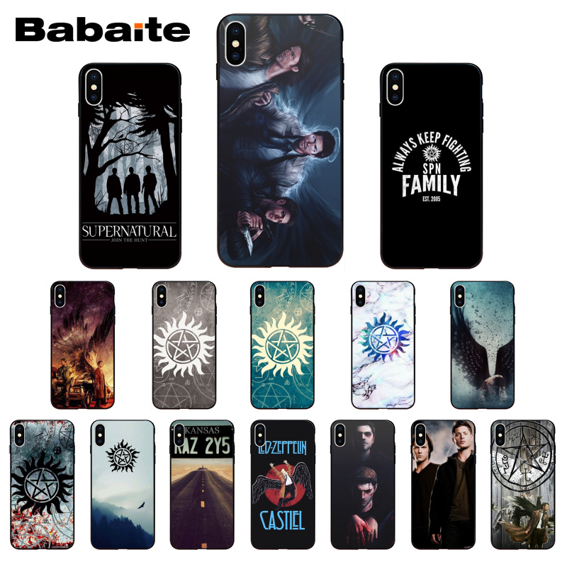 Babaite Supernatural Novelty Fundas Phone Case for iPhone 6S 6plus 7 7plus 8 8Plus X Xs Xr XsMax 5 5S 5C SE11 11pro 11promax image