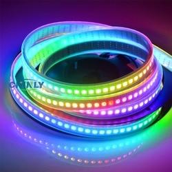 APA102 Smart LED Pixel Strip Light1m/5m IP30 IP65  IP67 waterproof Light 30/60/144 LEDs/m Pixel DATA and CLOCK Seperately DC5V
