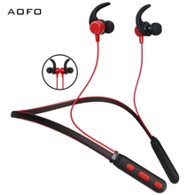AOFO High Quality Smallest wireless earphones, Stereo running waterproof earbuds, magnetic blue tooth headset with mic