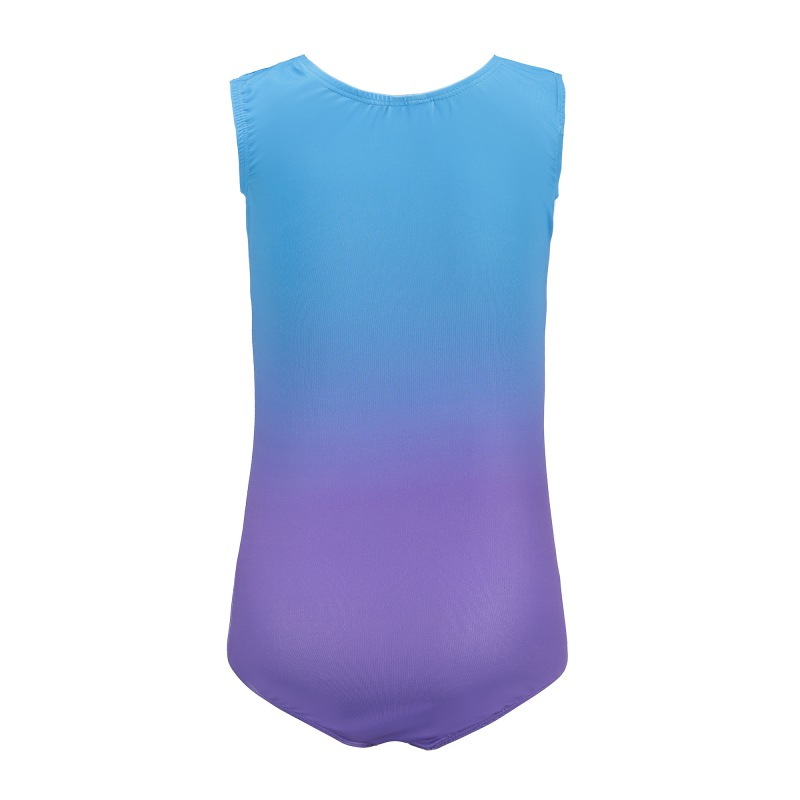 Gymnastics sleeveless diamond highlights Ballet gymnastics suit dance practice clothes dance clothes gradient color body suit in Gymnastics from Sports Entertainment