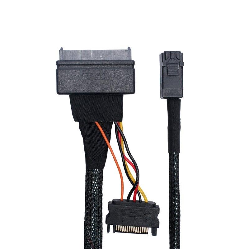 1M HD Mini-SAS (SFF-8643) To U.2 (SFF-8639) Cable For 2.5