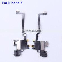 원래 전면 빛 센서 플렉스 리본 케이블 이어폰 귀 스피커 어셈블리 아이폰 X 10 10 교체 부품