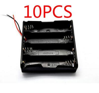 10 cái Giữ 18650 Pin Thương Hiệu ngân hàng Điện Plastic Pin Chủ Hộp Lưu Trữ Case cho 4x18650 Đế Pin