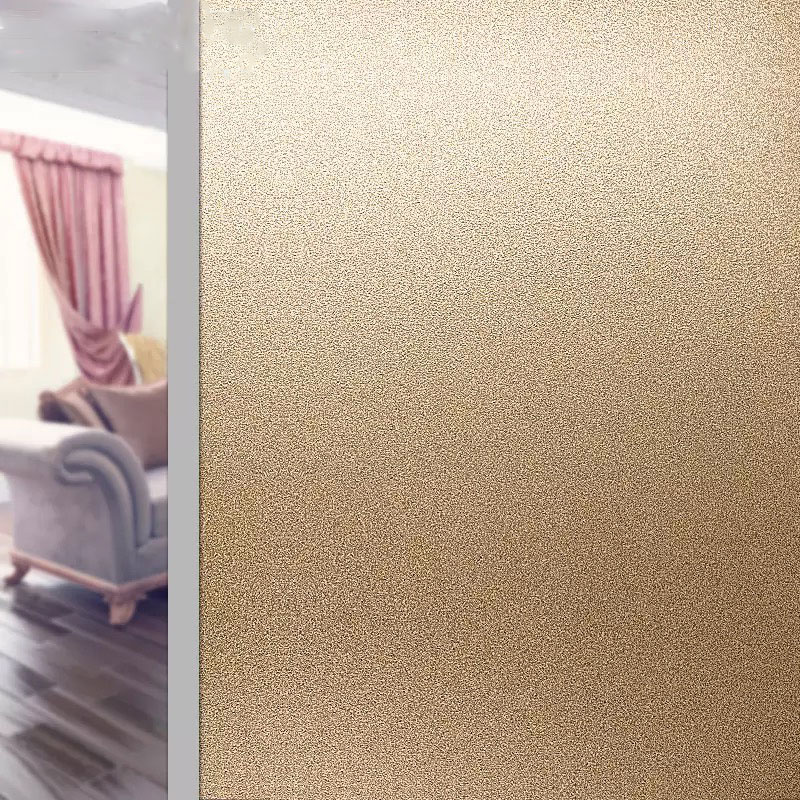Gold Frosted Glass Sticker Window Film Privacy glue free Office Bathroom Bedroom Shop Static Cling DIY Decorative 45/60/90*500cm
