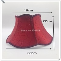 Lamp shade wine red hexagon applies to desk lamp, floor lamp, cloth art lamp fittings