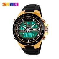 2014 Marca Casual Masculina esportiva Relógio 2 Fuso horário digital Quartz Relógio Moda Relógios de Pulso Elegantes LED Mergulho Relógios Militares