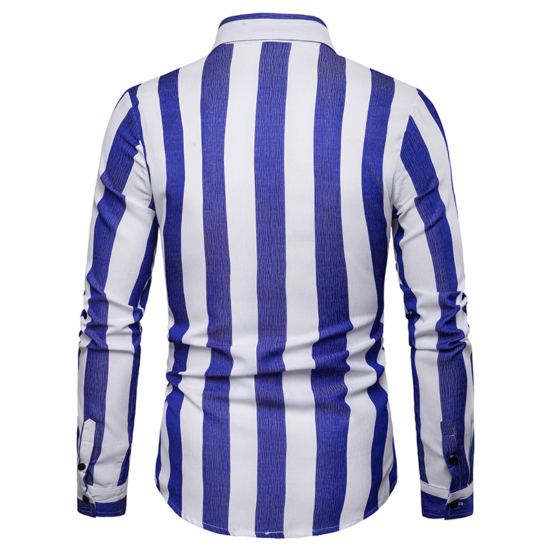 2019 summer brand men 39 s casual shirt new fashion men 39 s striped shirt long sleeve casual soft breathable men 39 s business shirt in Casual Shirts from Men 39 s Clothing