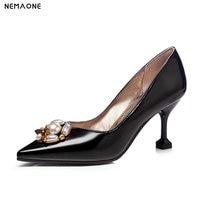 NEMAONE 2019 New Elegant Women Pumps Office Lady Sexy Fetish High Heels Pump Scarpin Sapatos Femininos Bride Wedding Shoes