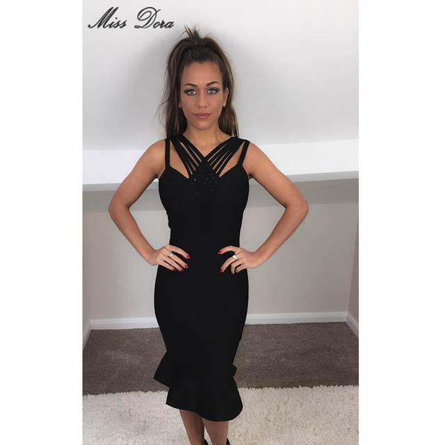 b86e9cb7631 2016 New women summer runway dress khaki black dark blue sky blue bandage  dress sexy party