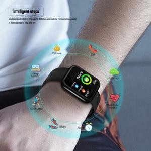 Image 3 - 2019 Men Women Waterproof T80 Smart Watch Bluetooth Smartwatch Heart Rate Monitor Fitness Tracker pk P70 P68 Plus P80 B57