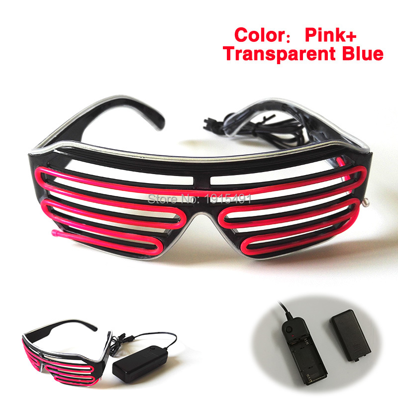 Stage Lamp Novelty Attractive EL Rope Tube Glasses Voice Sensitive 20pcs Led Bulbs Neon Bi-Colors Eyewear as Halloween Decor topeak outdoor sports cycling photochromic sun glasses bicycle sunglasses mtb nxt lenses glasses eyewear goggles 3 colors