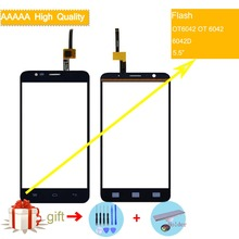 For Alcatel One Touch Flash OT6042 OT 6042 6042D Touch Screen Touch Panel Sensor Digitizer Front Outer Glass Touchscreen NO LCD lcd for alcatel one touch flash 6042 ot6042 6042d lcd display touch screen digitizer panel assembly for alcatel one touch flash