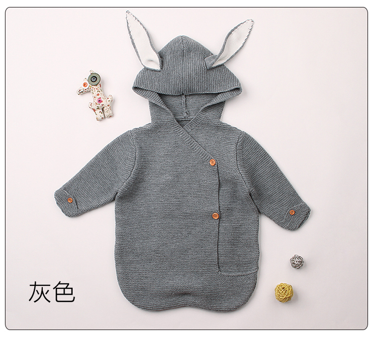 New Soft Baby Blankets knitted Rabbit Sleeping Bag Newborn Infant Quilts Baby Bunting boy girl swaddling children bedding infant baby sleeping bag baby blankets quilt thick natural cotton sleeping bag detachable sleeves newborn swaddling clothes