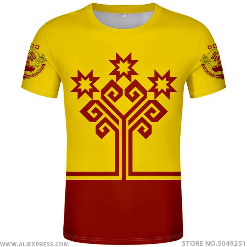 CHUVASHIA shirt freies nach maß name anzahl cheboksary t-shirt druck flagge russische russland rossiya alatyr chuvash kanash kleidung