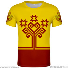 CHUVASHIA חולצה משלוח תפור לפי מידה שם מספר צ בוקסרי חולצה הדפסת דגל רוסית רוסיה rossiya alatyr chuvash kanash בגדים
