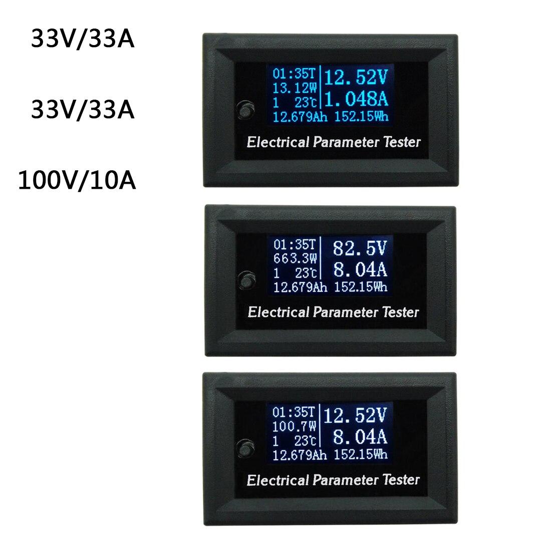 Hot!Oled LCD 33v 100V 10A DC Combo Meter Voltage Current Power Capacity Battery Monitor 28x46mm 2500pcs zmm33v ll 34 zmm 33v 1 2w 1206 33v 0 5w smd