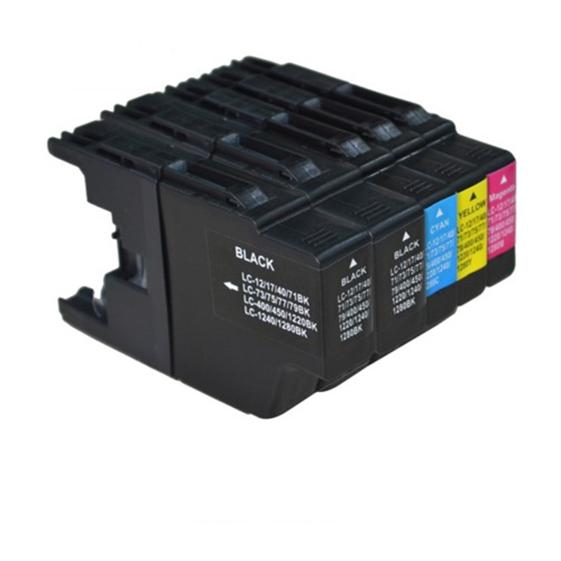 5pk Printer Ink Cartridge for Brother LC12 LC17 LC71 LC40 LC73 LC75 LC77 LC79 LC400 LC450 LC1220 LC1240 LC1280