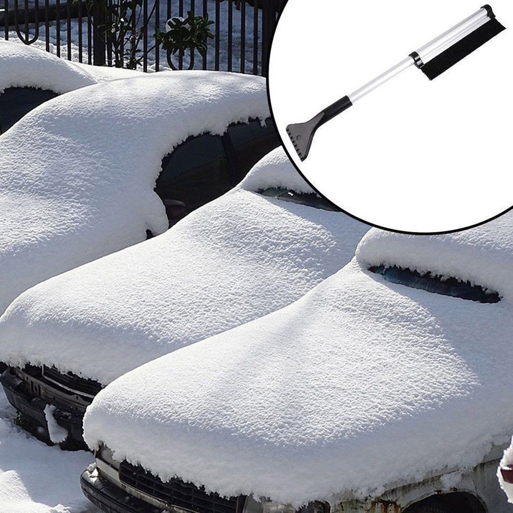 Extendable Car Auto Ice Scraper Shovel Snow Brush without scratching windshield Removal Cleaning Tool Set