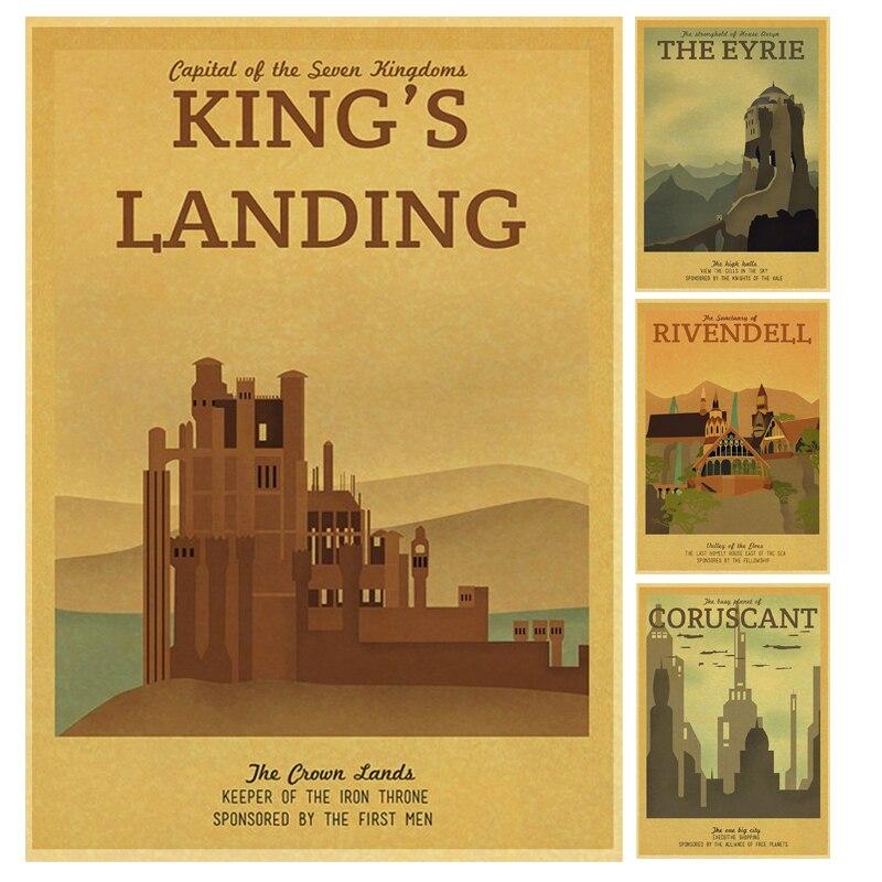 Season 2 Iron Throne Game of Thrones Vintage Retro Poster Decorative ...