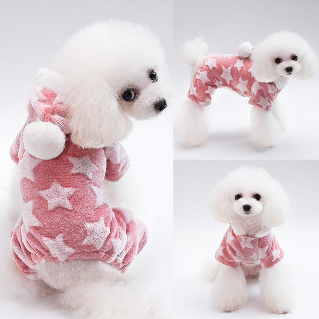 Dog's Star Print Warm Jumpsuit