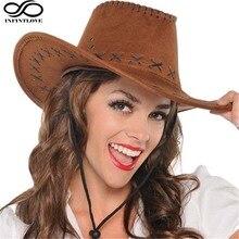 Western-Hat Fedora Panama Cowboy Strap Jazz Wide Summer Brim LUCKYLIANJI Solid Women