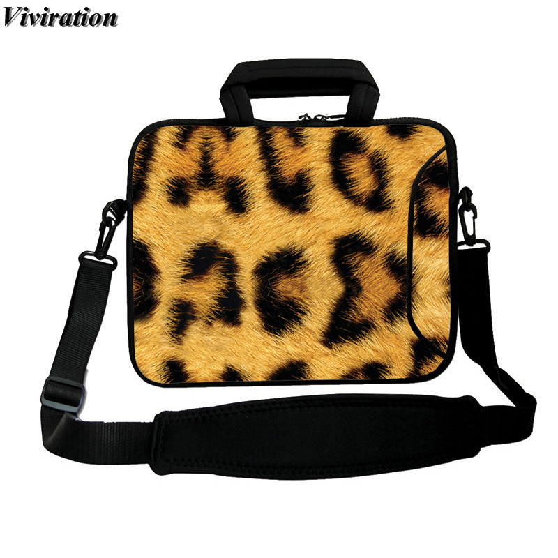 Leopard Printing Viviration Messneger Laptop Bag 10 Inch 10.1 9.6 9.7 10.2 Inch Tablet Cover Case For Apple iPad 2 3 4 Tablet PC